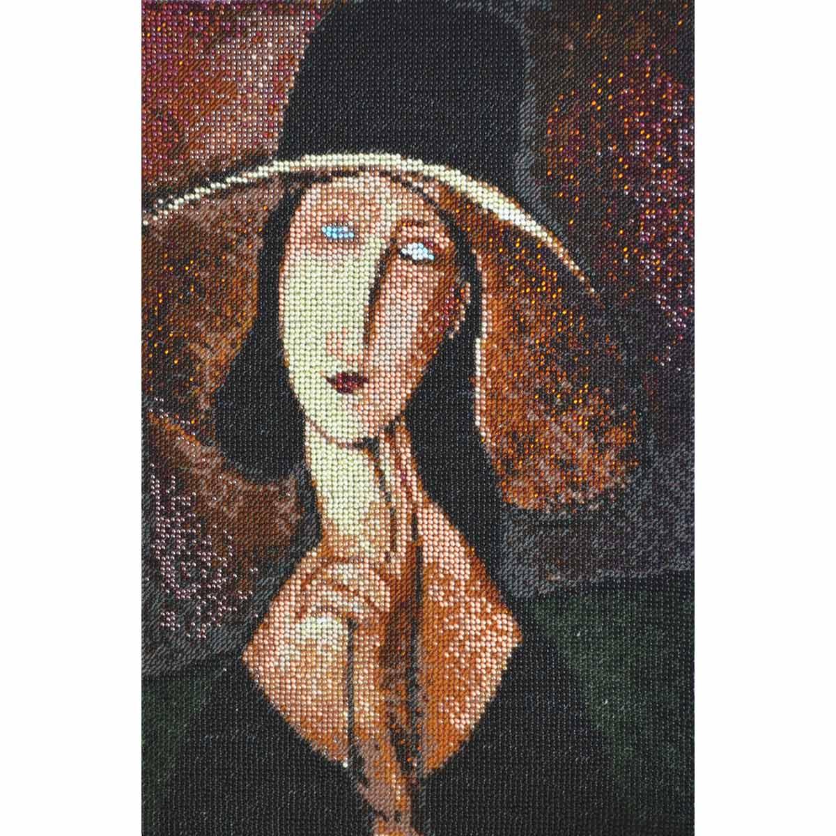 Набор для вышивания бисером Созвездие По мотивам картины А.Модильяни Портрет Жанны