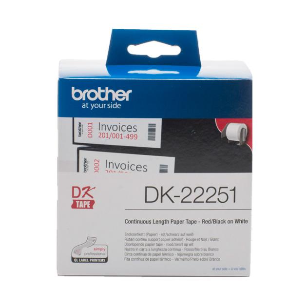 Картридж для матричного принтера Brother DK22251 черный,