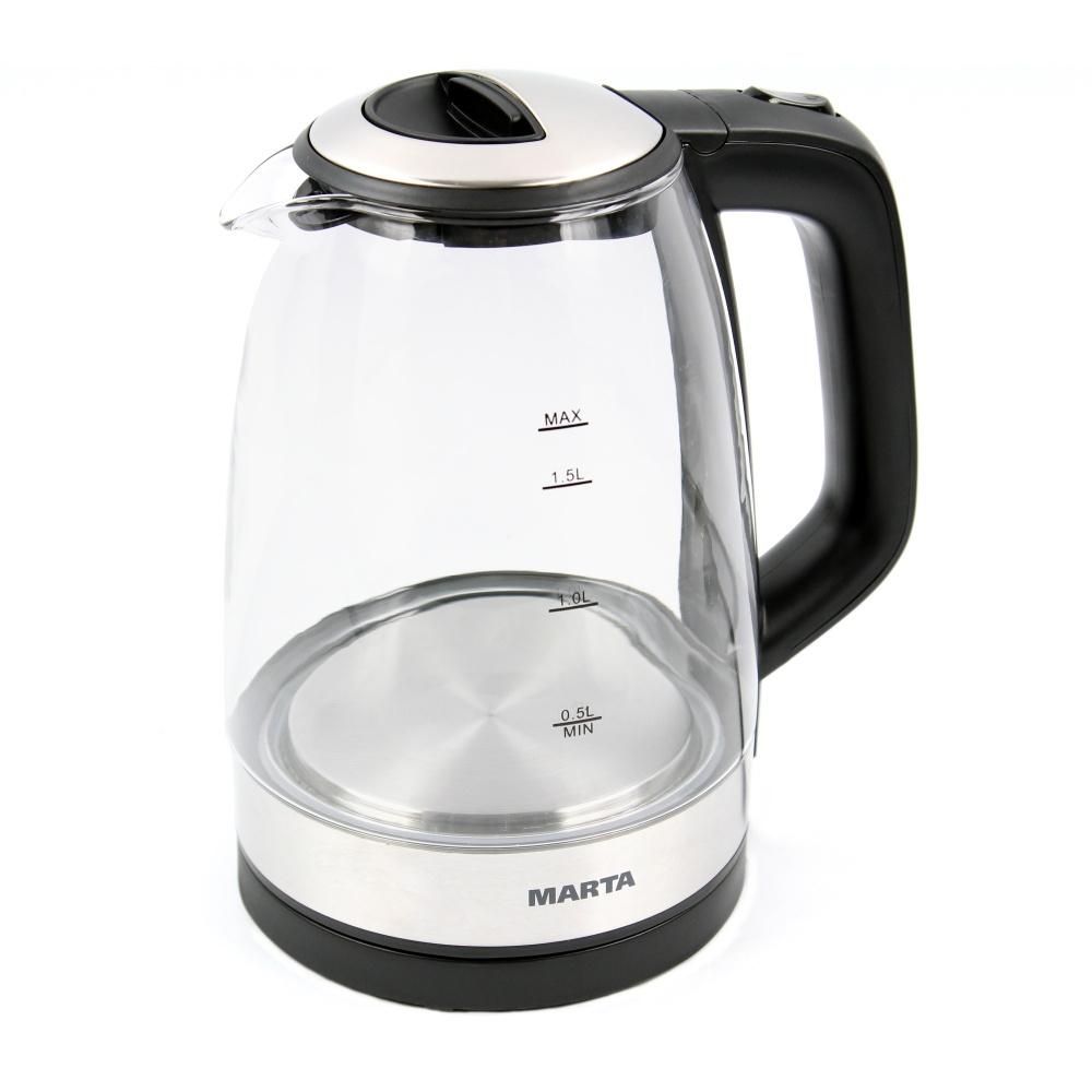 Чайник электрический Marta MT 1078 Black/Grey