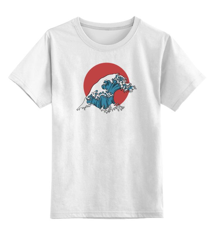 Купить 0000000739015, Детская футболка Printio Япония цв.белый р.140,