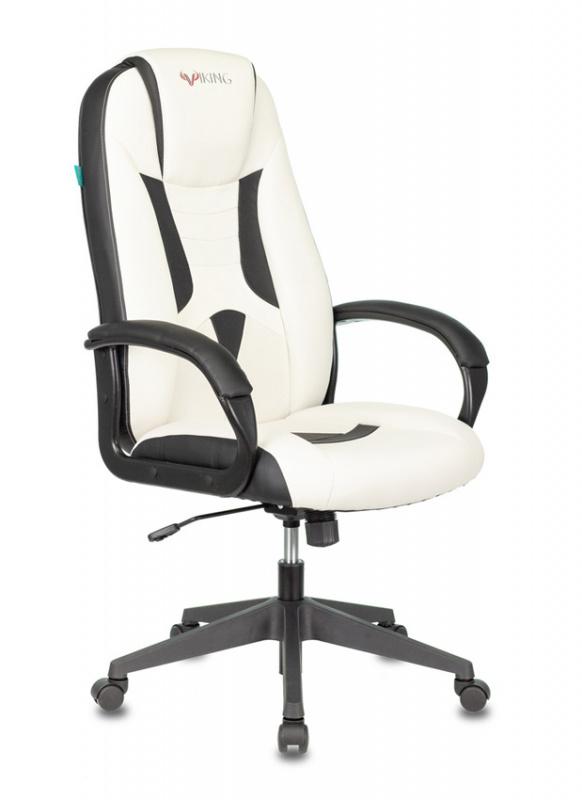 Кресло игровое Бюрократ VIKING-8N/WH-BLACK белый/черный искусственная кожа