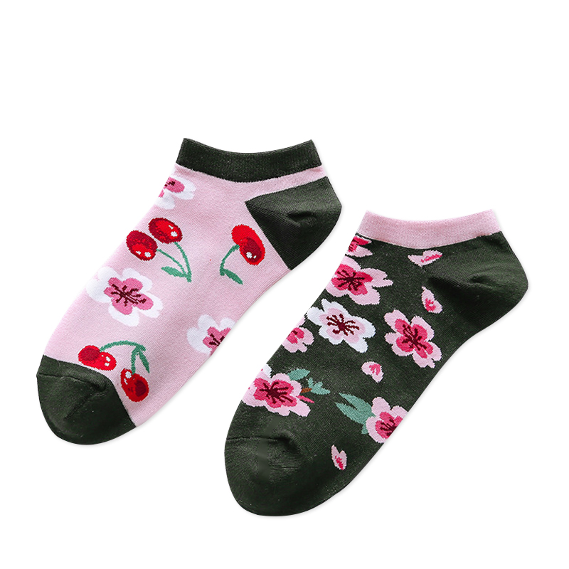 Носки женские Kawaii Factory Вишня розовые 36-39