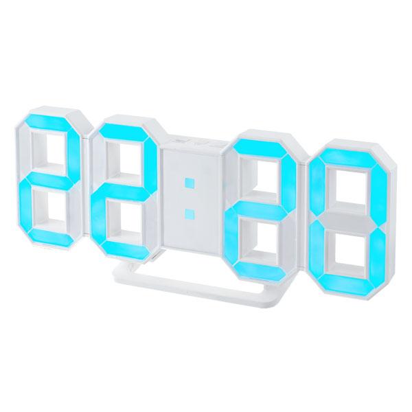 Часы будильник Perfeo LUMINOUS, белый корпус