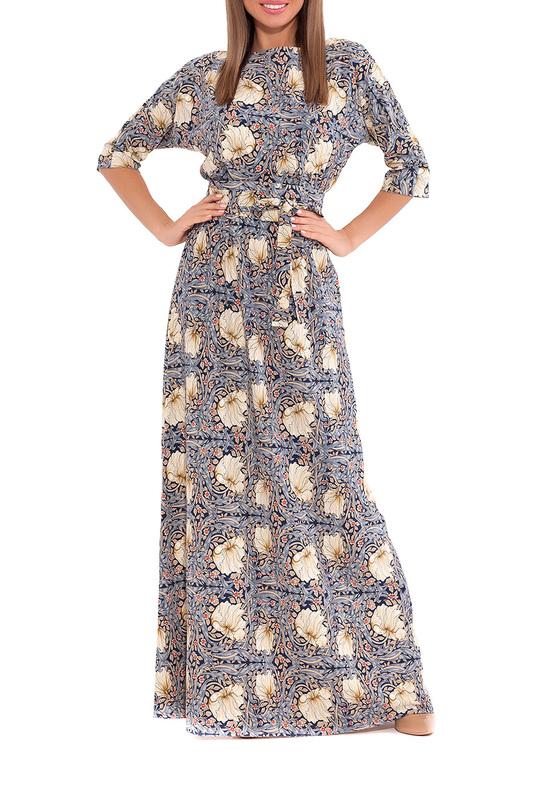 Платье женское EMANSIPE 318033514 синее 48 IT фото