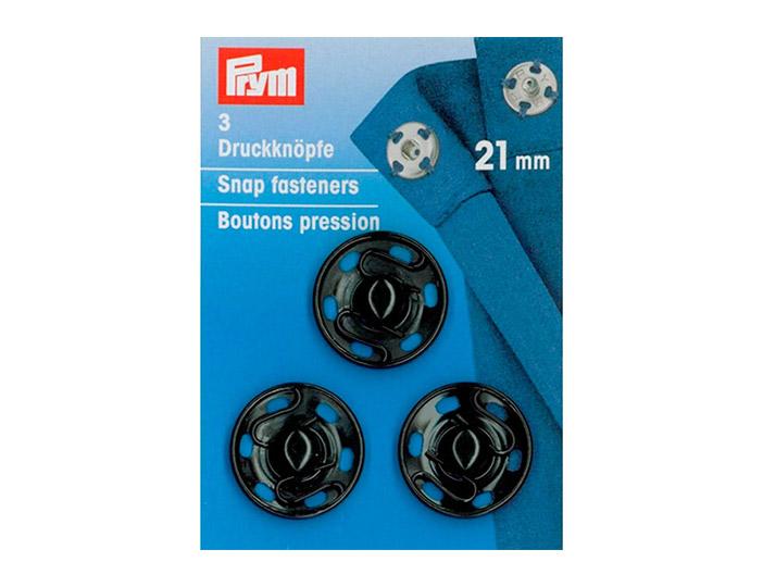 PRYM PRYM Кнопки пришивные, 21 мм, черные, 341172