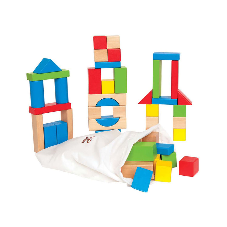 Купить Конструктор деревянный цветной 50 элементов Hape E0409_HP,