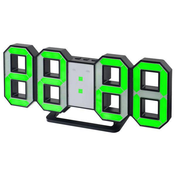 Часы будильник Perfeo LUMINOUS, черный корпус