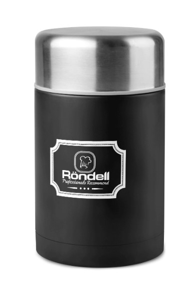 946-RDS Термос для еды 0,8 л с внутр.контейнером 0,35 л Picnic Black Rondell BK