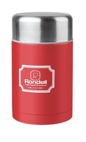 Термос для еды 0,8 л с внутр.контейнером 0,35 л Picnic Red Rondell R