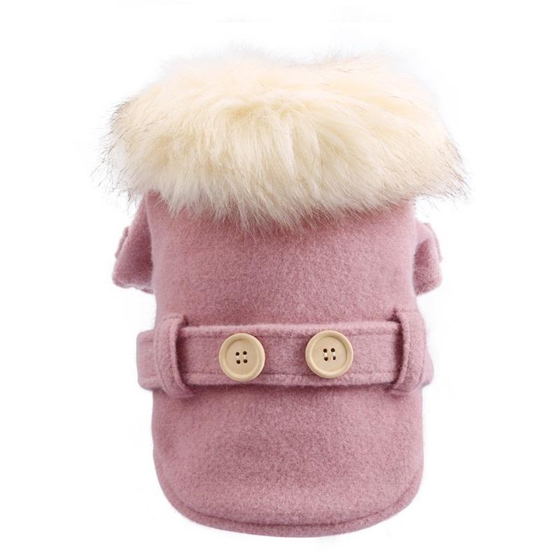 Пальто для собак Petcircle с меховым воротником,