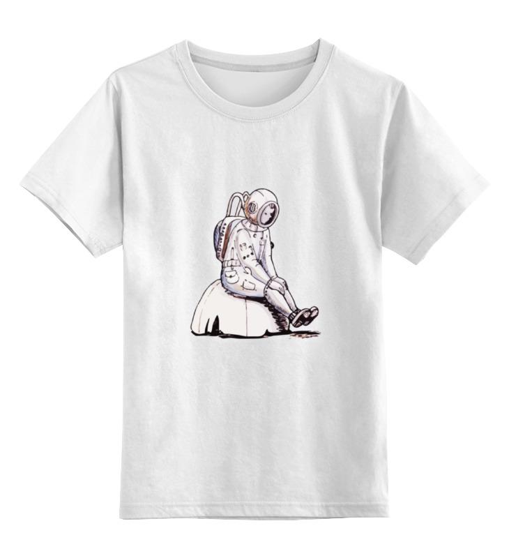 Детская футболка Printio Одиночество на марсе цв.белый р.140 0000000736356 по цене 790