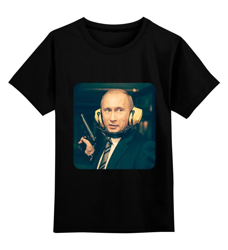 Детская футболка Printio Vladimir putin цв.черный р.140 0000000735658