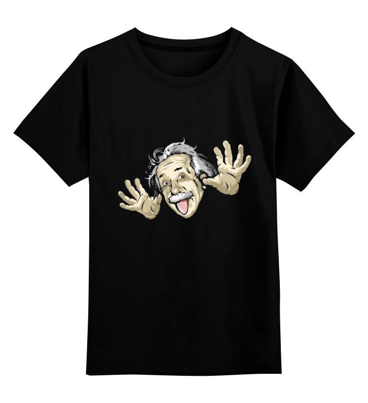 Детская футболка Printio Эйнштейн цв.черный р.140 0000000735581 по цене 990