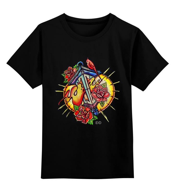 Купить 0000000732761, Детская футболка Printio Lantern/ цв.черный р.140,