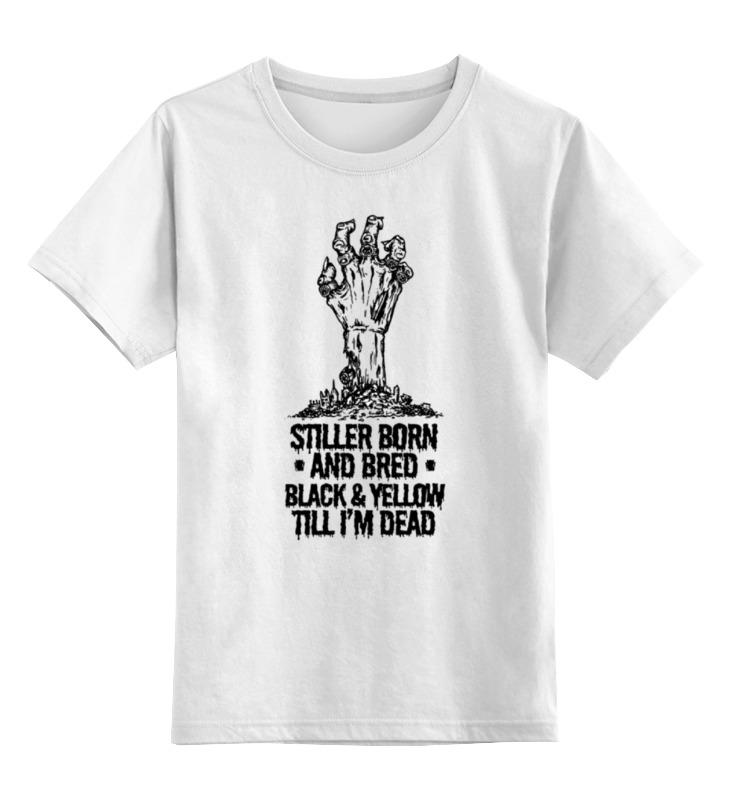Купить 0000000732059, Детская футболка Printio Steeler зомби цв.белый р.140,