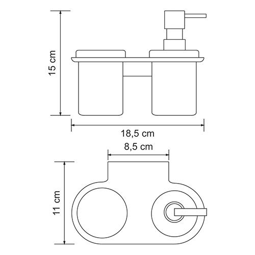 Держатель для аксессуаров для ванной WasserKRAFT Kammel K-8389