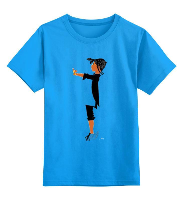 Купить 0000000729671, Детская футболка Printio Хип хоп цв.голубой р.140,