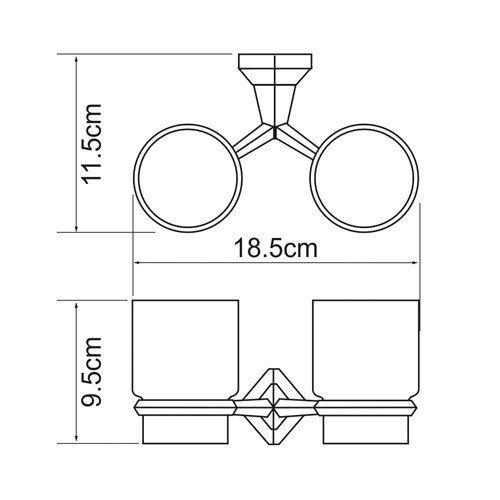 Держатель для аксессуаров для ванной WasserKRAFT Aller K-1128DC