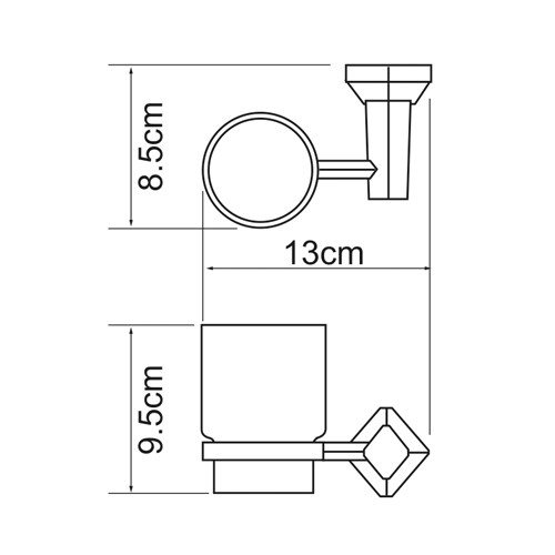 Держатель для аксессуаров для ванной WasserKRAFT Aller K-1128C