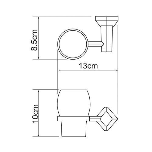 Держатель для аксессуаров для ванной WasserKRAFT Aller K-1128