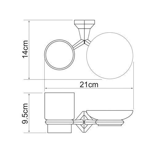 Держатель для аксессуаров для ванной WasserKRAFT Aller K-1126C