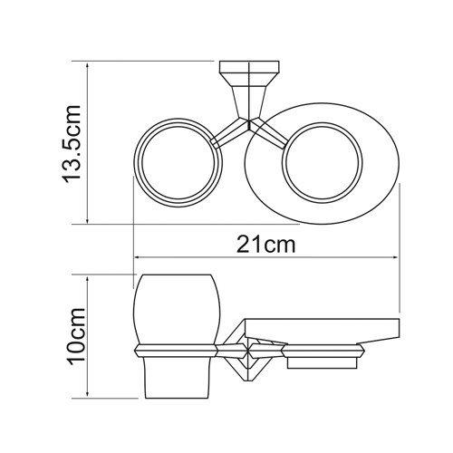 Держатель для аксессуаров для ванной WasserKRAFT Aller K-1126
