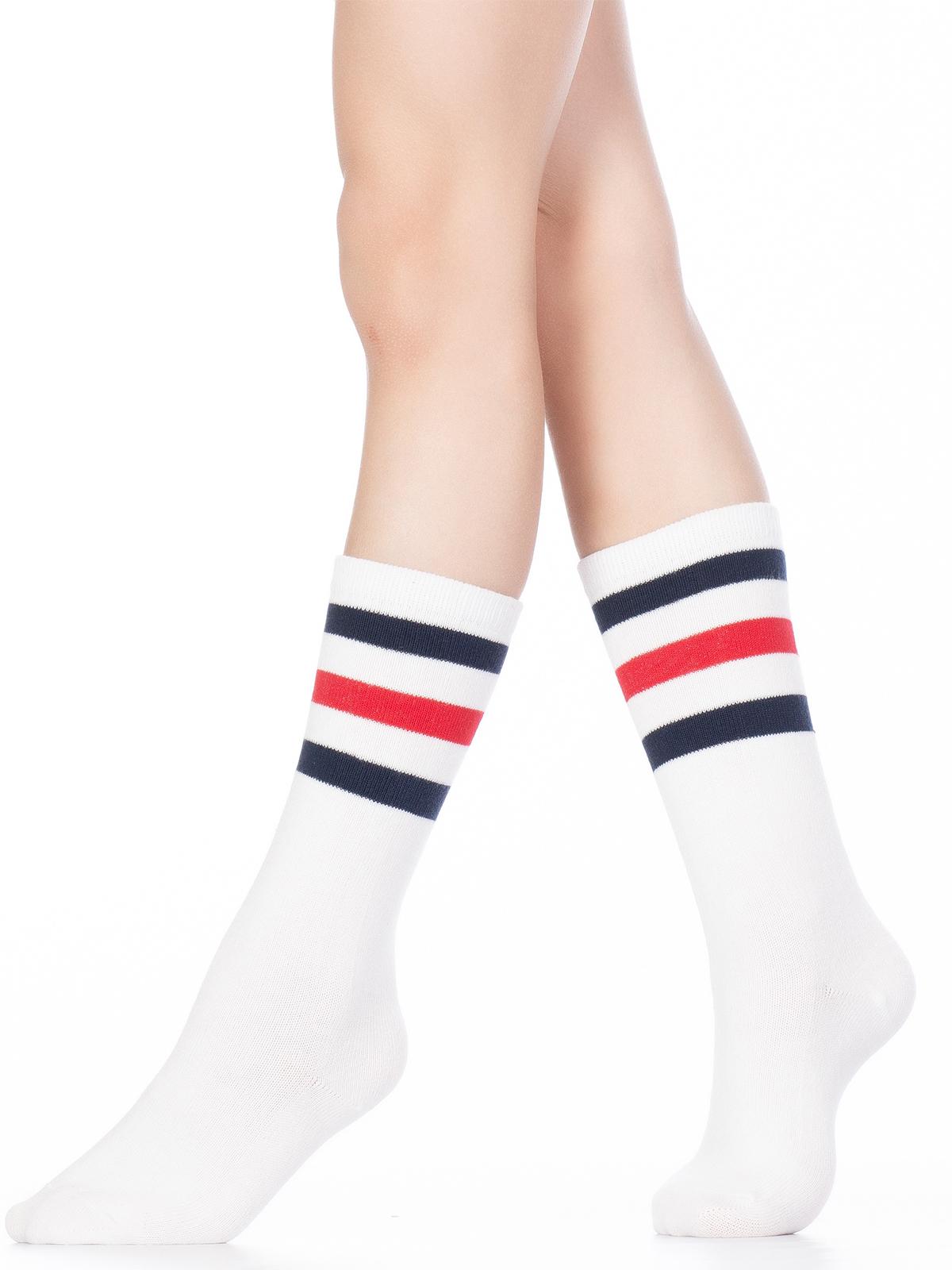 Купить Гольфы детские Hobby Line 4490-1 белый, красный, синий, 18-20, Гольфы для девочек