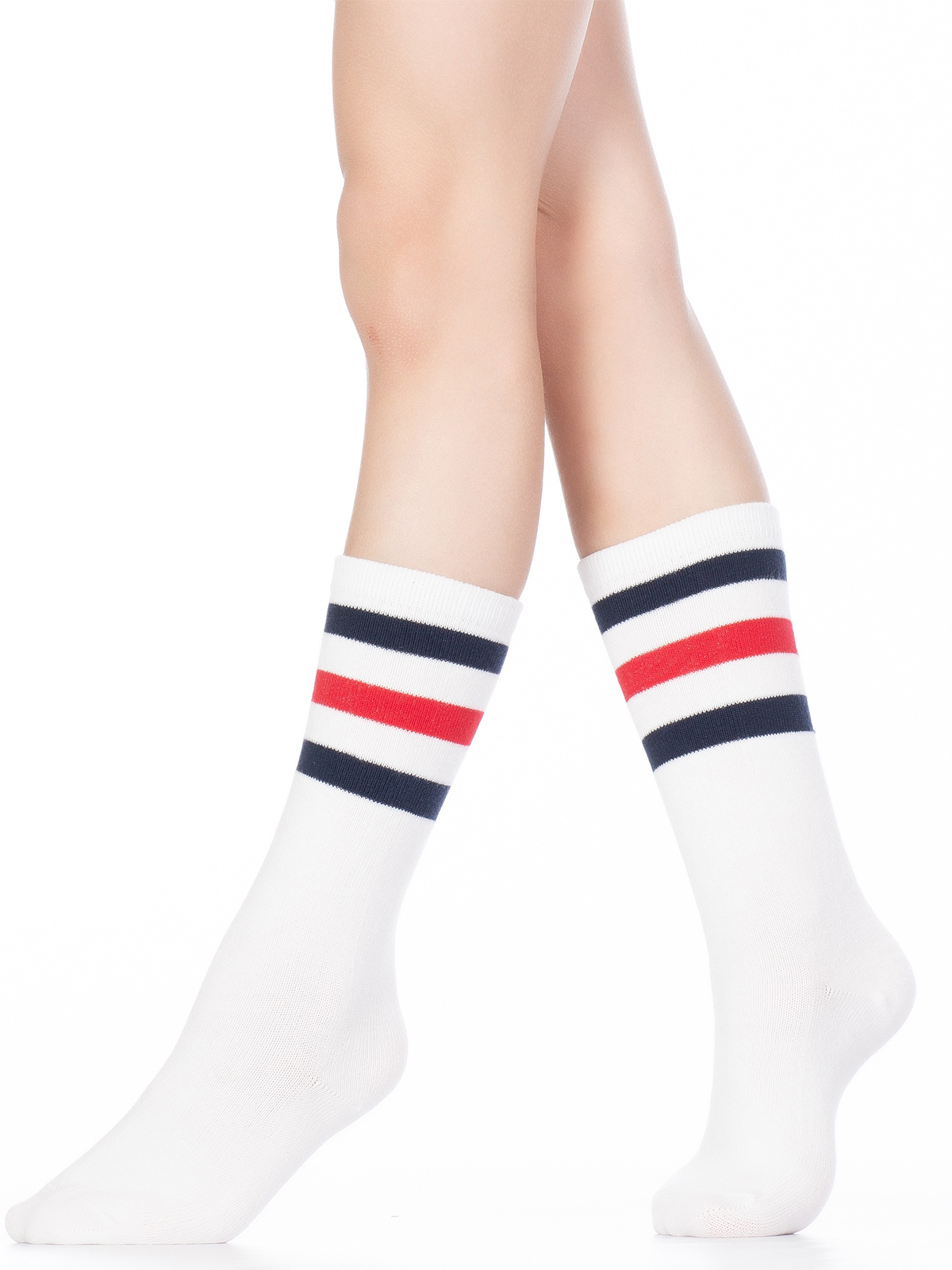 Купить Гольфы детские Hobby Line 4490-1 белый, красный, синий, 10-12, Гольфы для девочек