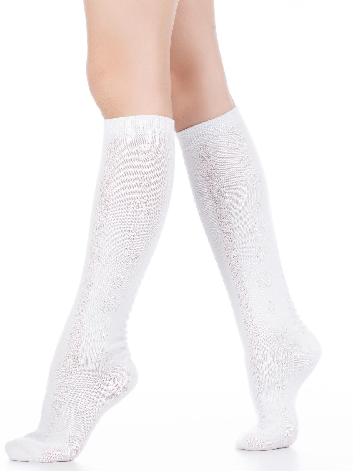 Купить Гольфы детские Hobby Line 839 ажурные, классика, белый, 18, Гольфы для девочек