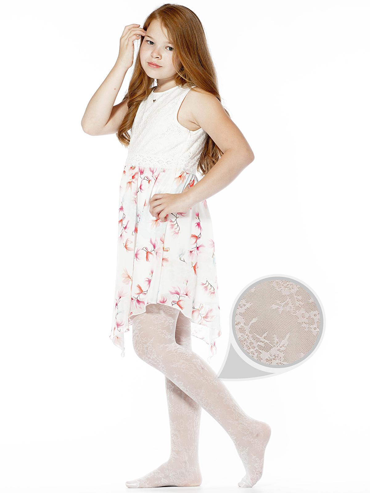 Купить CARLY01, Колготки детские Giulia CARLY 01, bianco, р.140-146, Колготки для девочек