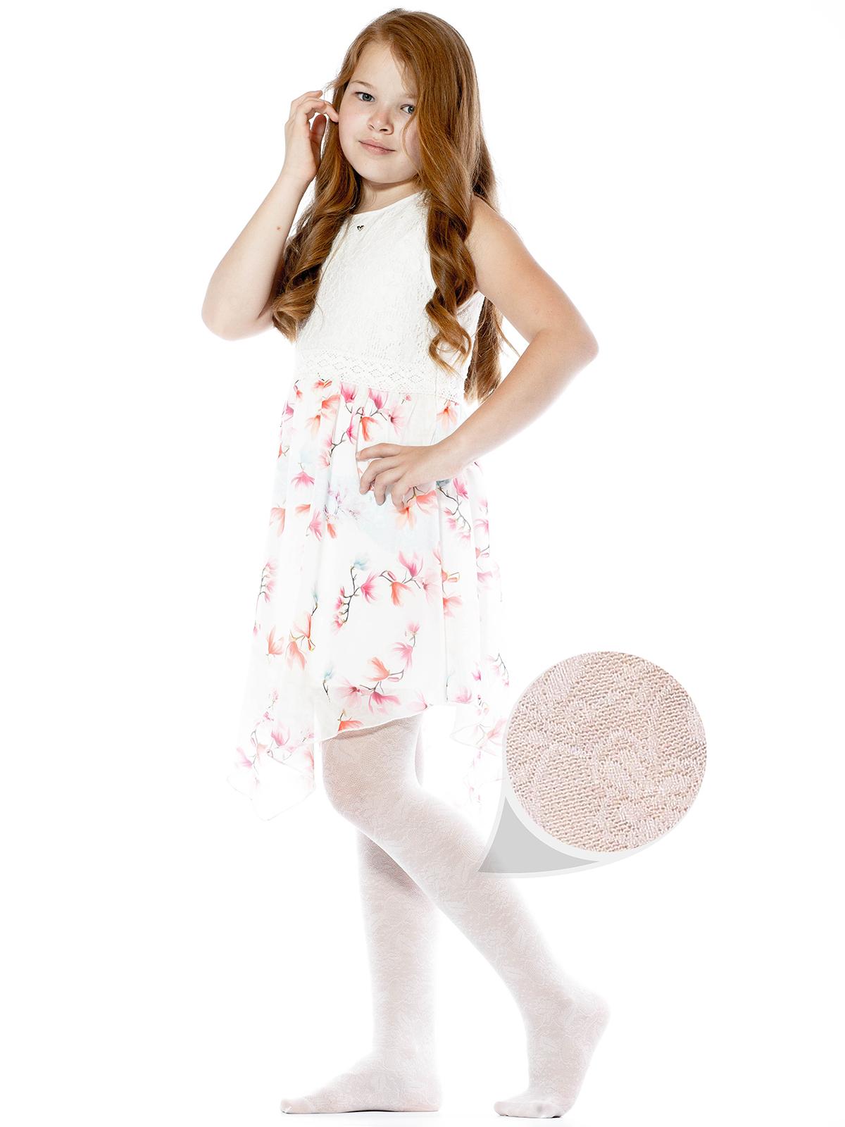 Купить NUTE10, Колготки детские Giulia, цв. белый р.128,
