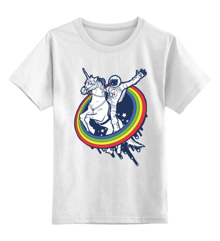 Купить 0000000723808, Детская футболка Printio Космонавт цв.белый р.152,