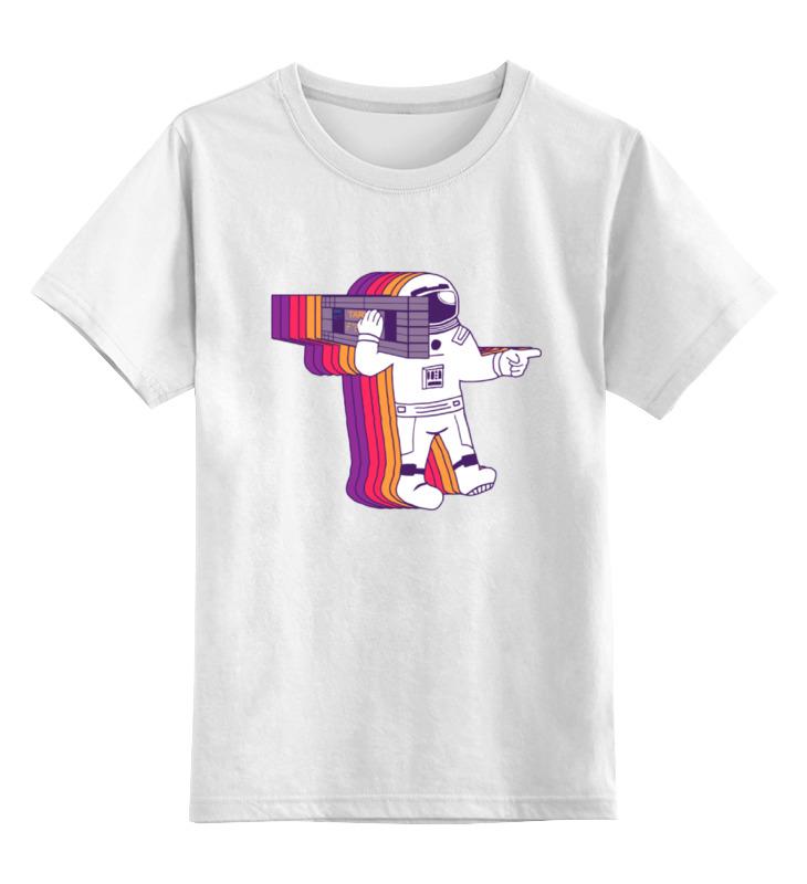 Купить 0000000722453, Детская футболка Printio Космонавт цв.белый р.152,