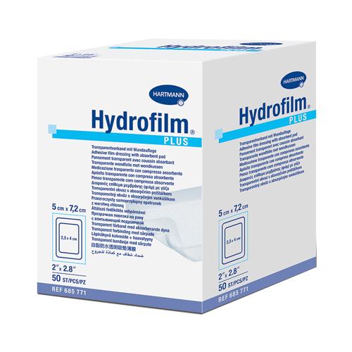 Самофиксирующаяся повязка Hydrofilm plus с впитывающей подушечкой