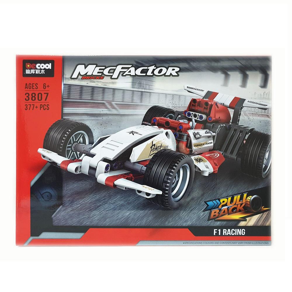 Конструктор Decool MecFactor Гоночная машина Формула F1 3807, 377 деталей