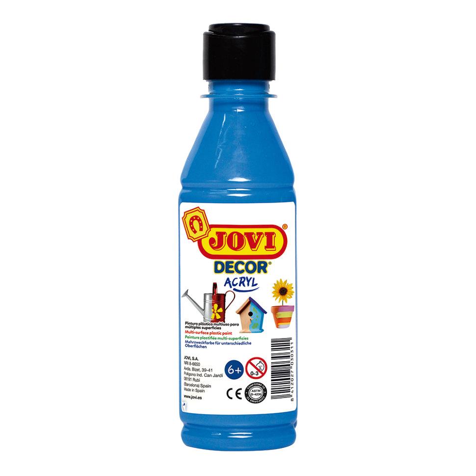 Краска акриловая JOVI Decor голубая 250мл Art. 680 21