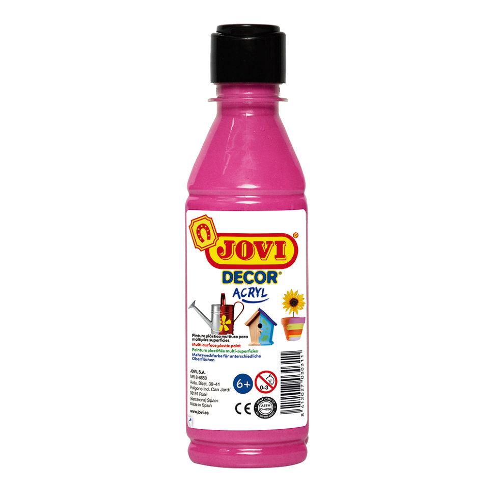Краска акриловая JOVI Decor розовая 250мл Art. 680 08