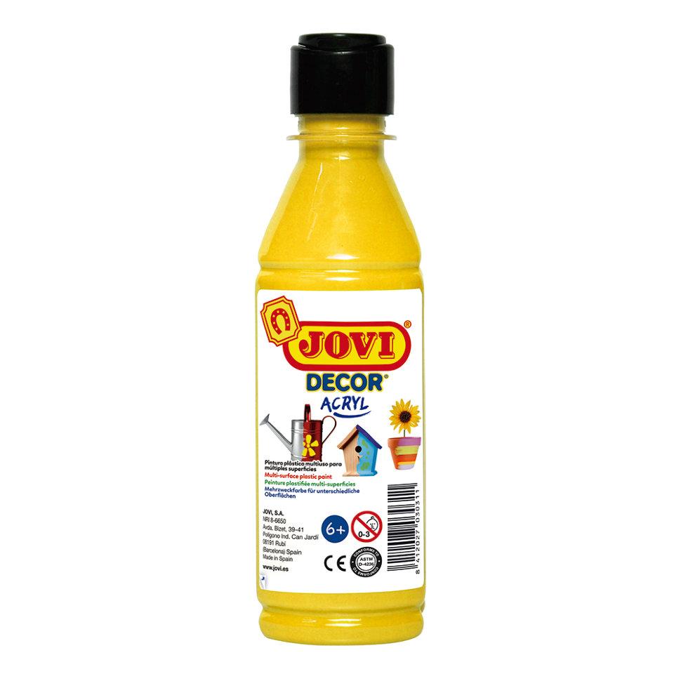 Краска акриловая JOVI Decor желтая 250мл Art. 680 02
