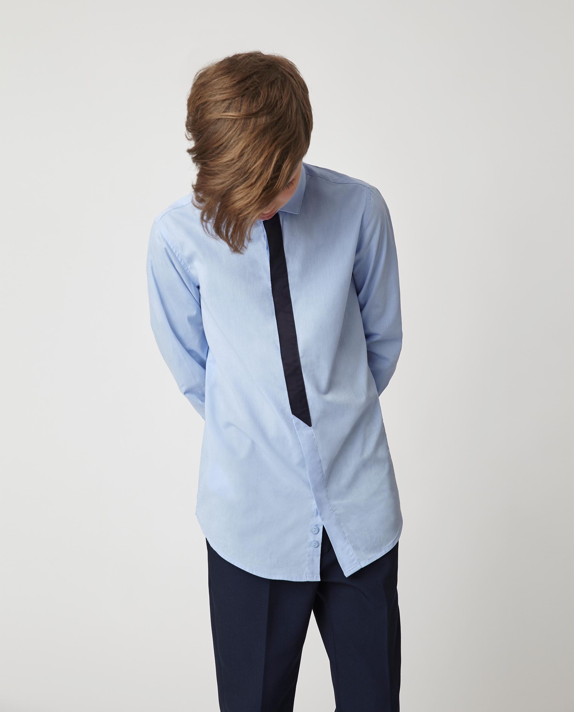 Купить Голубая рубашка Gulliver 220GSBC2312, размер 170, Рубашки для мальчиков