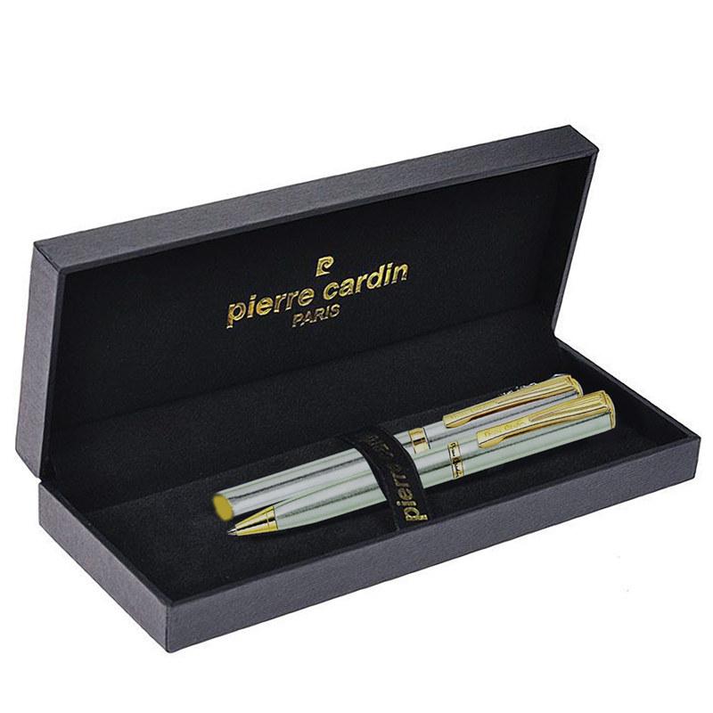 Набор подарочный Pierre Cardin Pen#and#Pen - Silver, ручка шариковая + ручка роллер