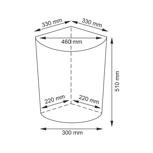 Плетеная корзина для белья с крышкой, Wasserkraft