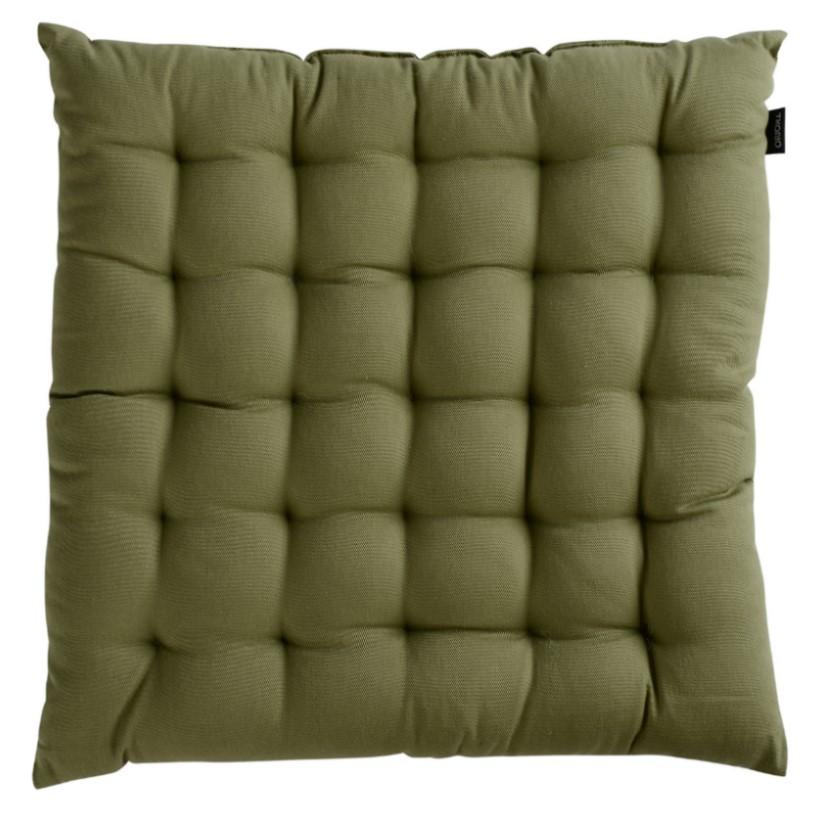 Подушка на стул, оливковый цвет, Wild, 40х40