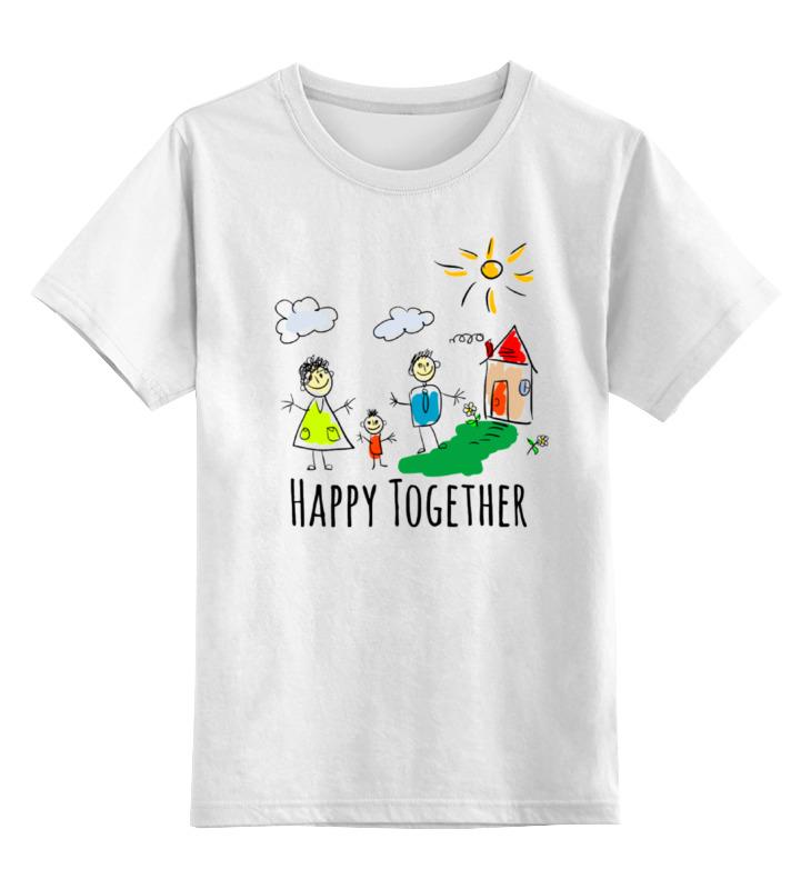 Детская футболка Printio Happy together цв.белый р.164 0000000724495 по цене 790