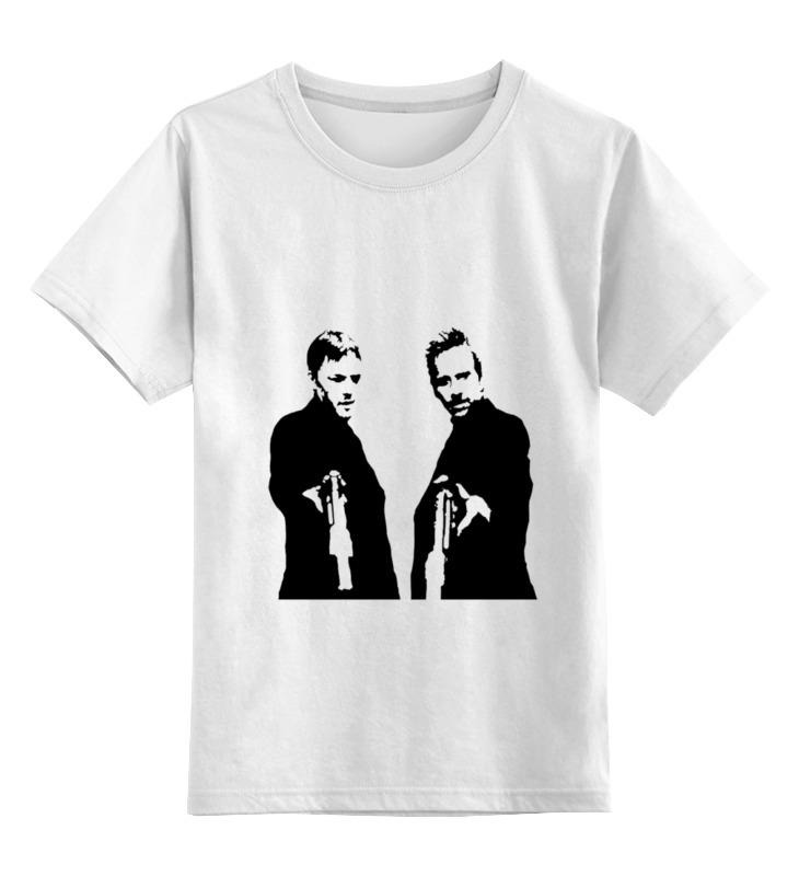 0000000721040, Детская футболка Printio Святые из бундока цв.белый р.164,  - купить со скидкой