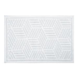 Коврик для ванной комнаты Cubo White белый,