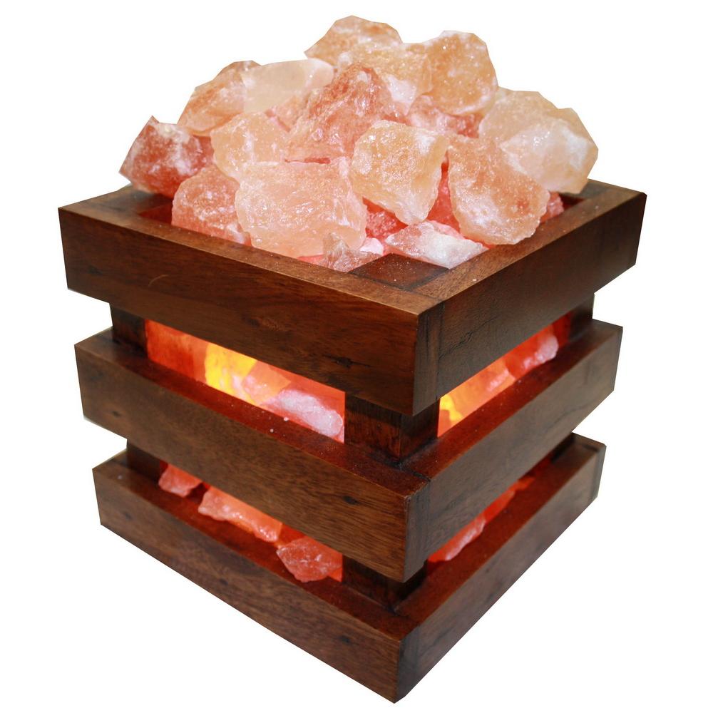 Соляная лампа абажур корзина «Куб»