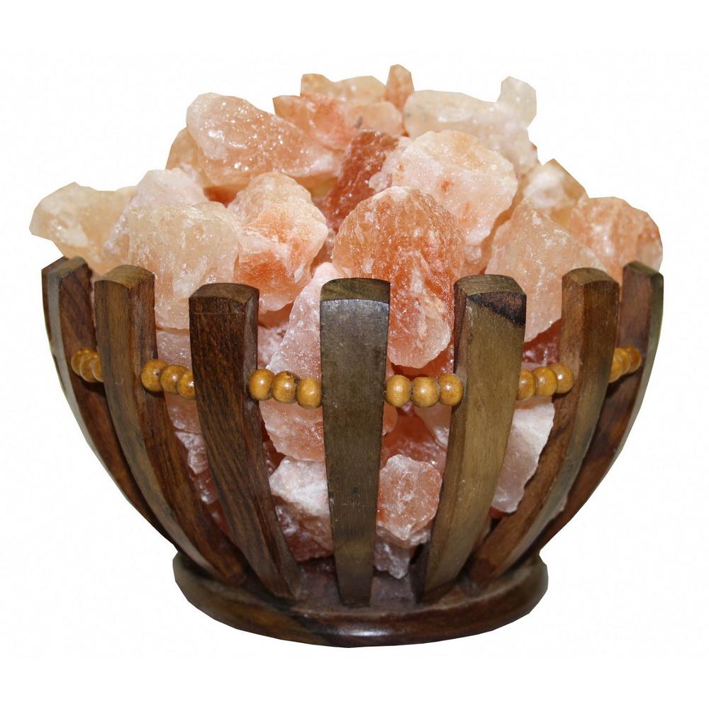 Соляная лампа абажур корзина «Чаша»