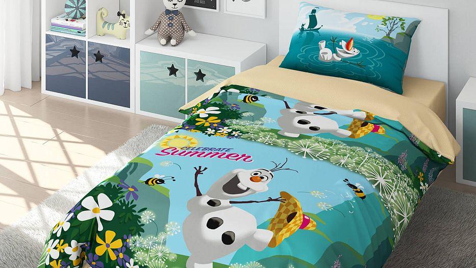 Детское постельное белье Askona Disney Холодное сердце. Олаф 1,5 сп
