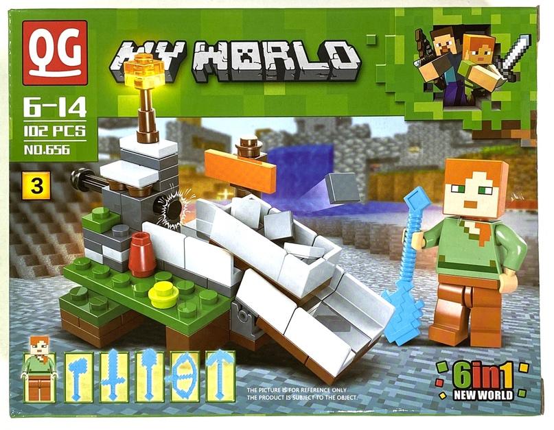 Купить Конструктор Minecraft Ремесло 102 детали IT656-3, QG, Конструкторы пластмассовые