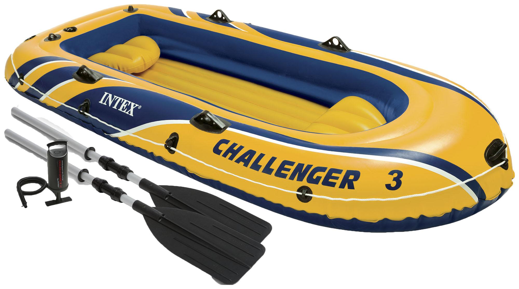 Лодка Challendger 3 295х137х43см весла+насос (48